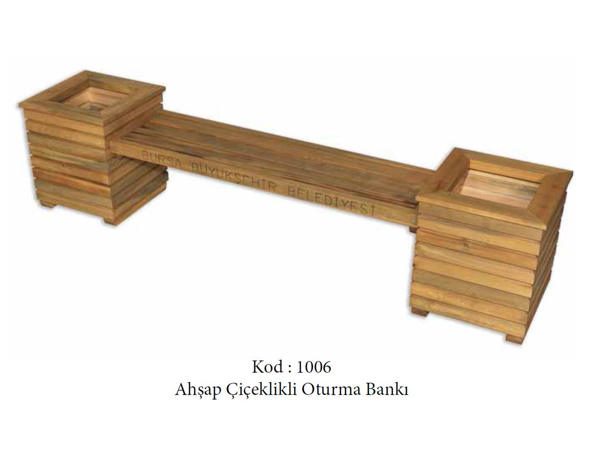 Çiçeklikli Oturma Bankı (1006)