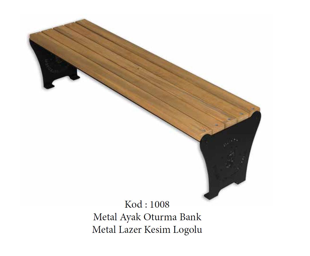 Metal Ayak Oturma Bankı (1008)