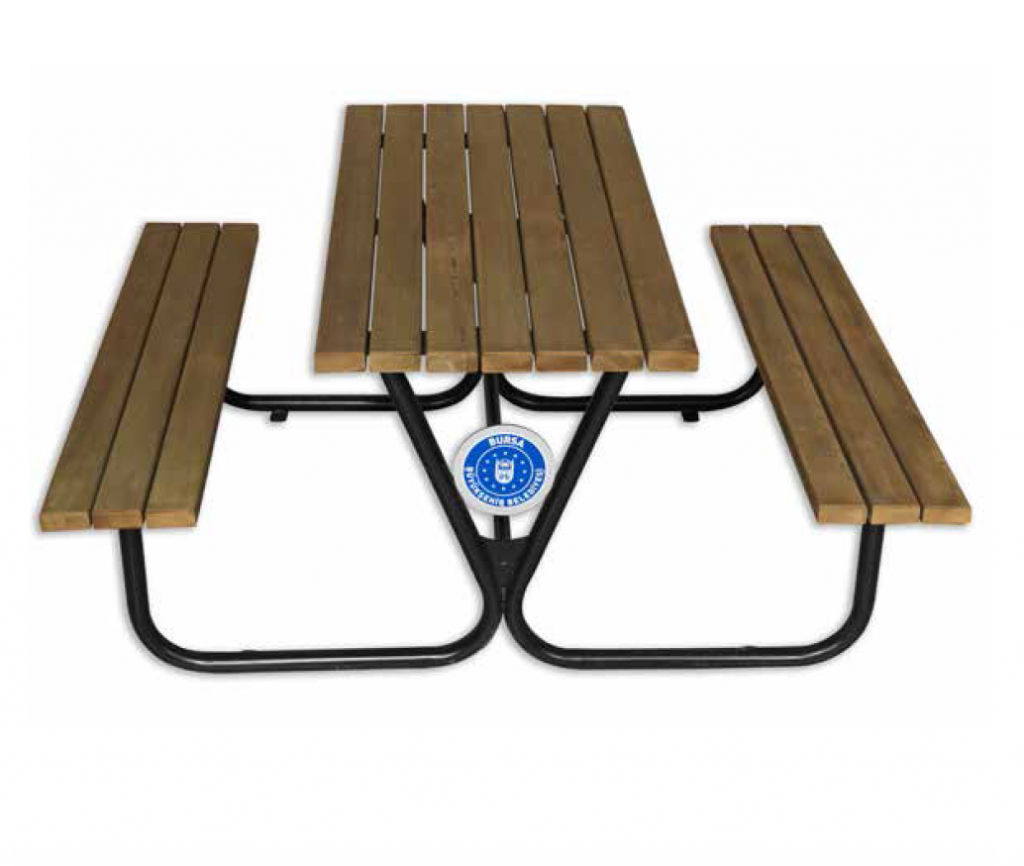 Kod:2003 - Metal Ayak Ahşap Piknik Masası